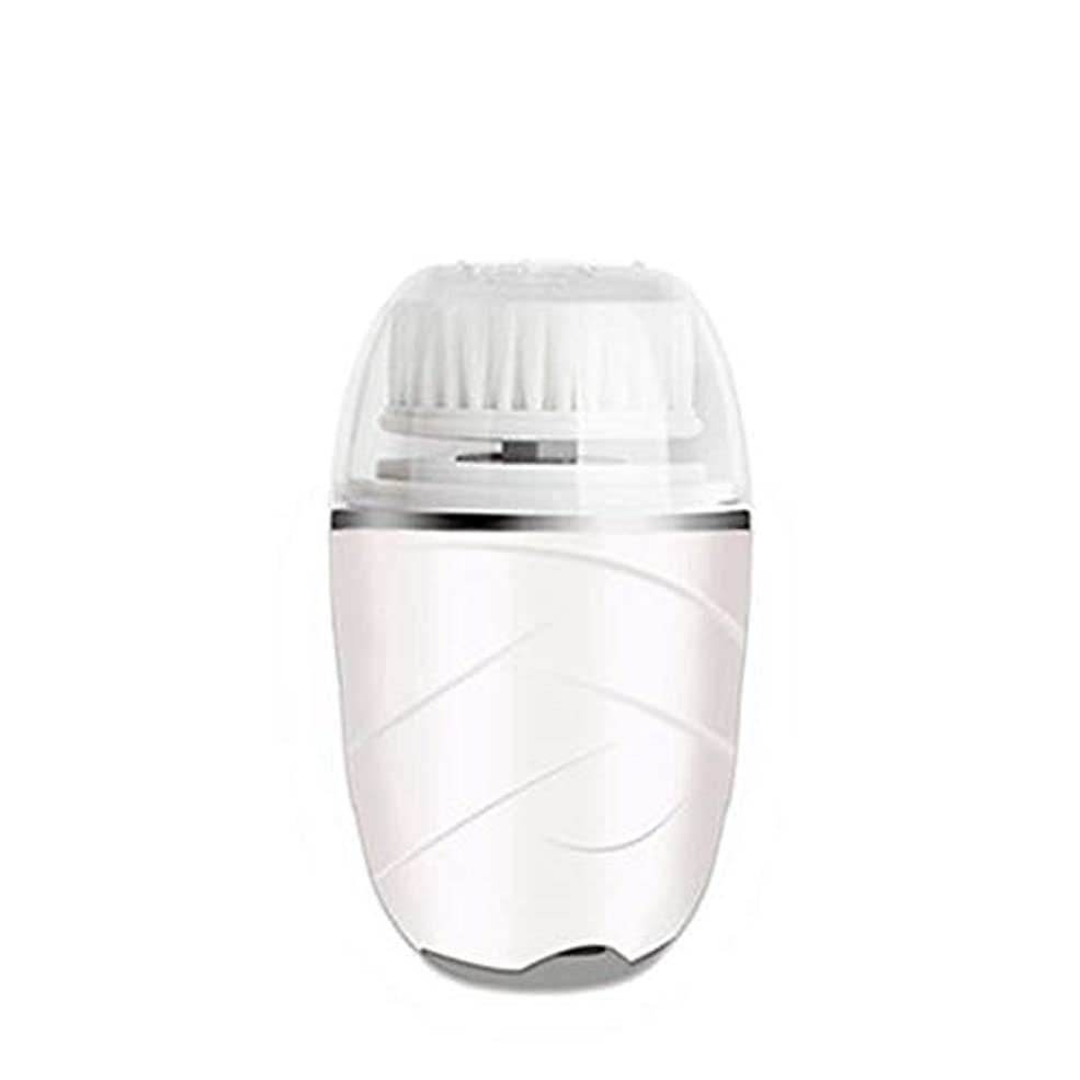 最も光の大砲HEHUIHUI- クレンジングブラシ、防水ディープクレンジングポア、電気剥離、にきび、アンチエイジングクレンジングブラシ(ピンク) (Color : White)