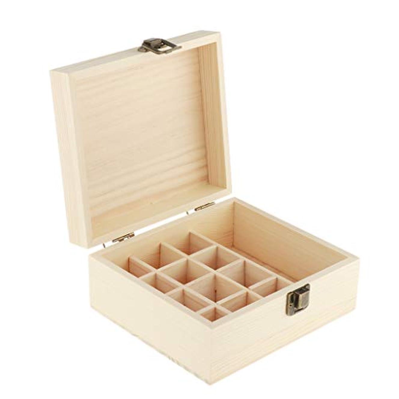 拒否豆腐直感P Prettyia エッセンシャルオイル キャリング ケース 木製収納 オーガナイザー ディスプレイ