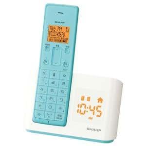 シャープ デジタルコードレス電話機 親機のみ 1.9GHz DECT準拠方式 ターコイズブルー JD-BC1CL-A
