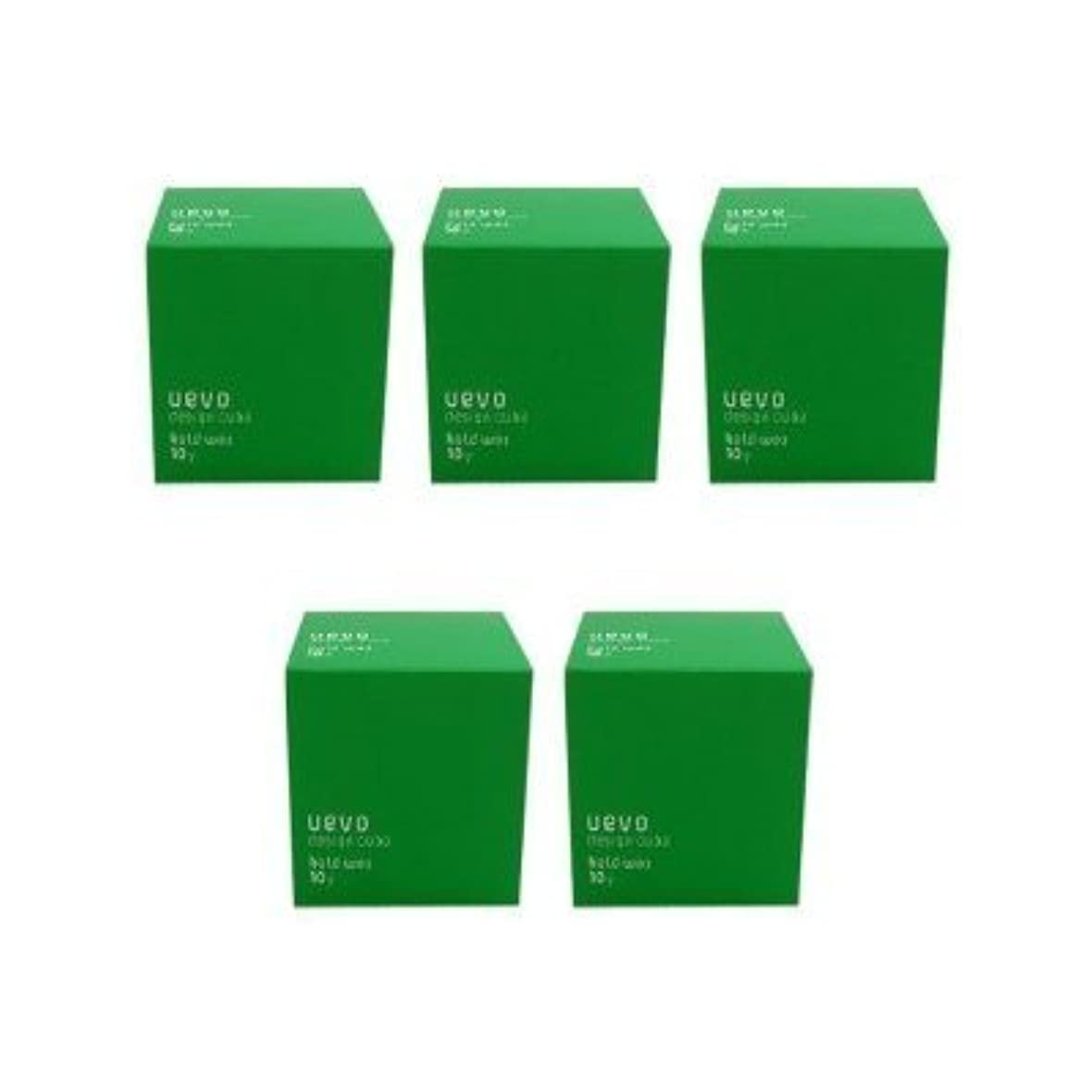 促す深くゲーム【X5個セット】 デミ ウェーボ デザインキューブ ホールドワックス 80g hold wax DEMI uevo design cube
