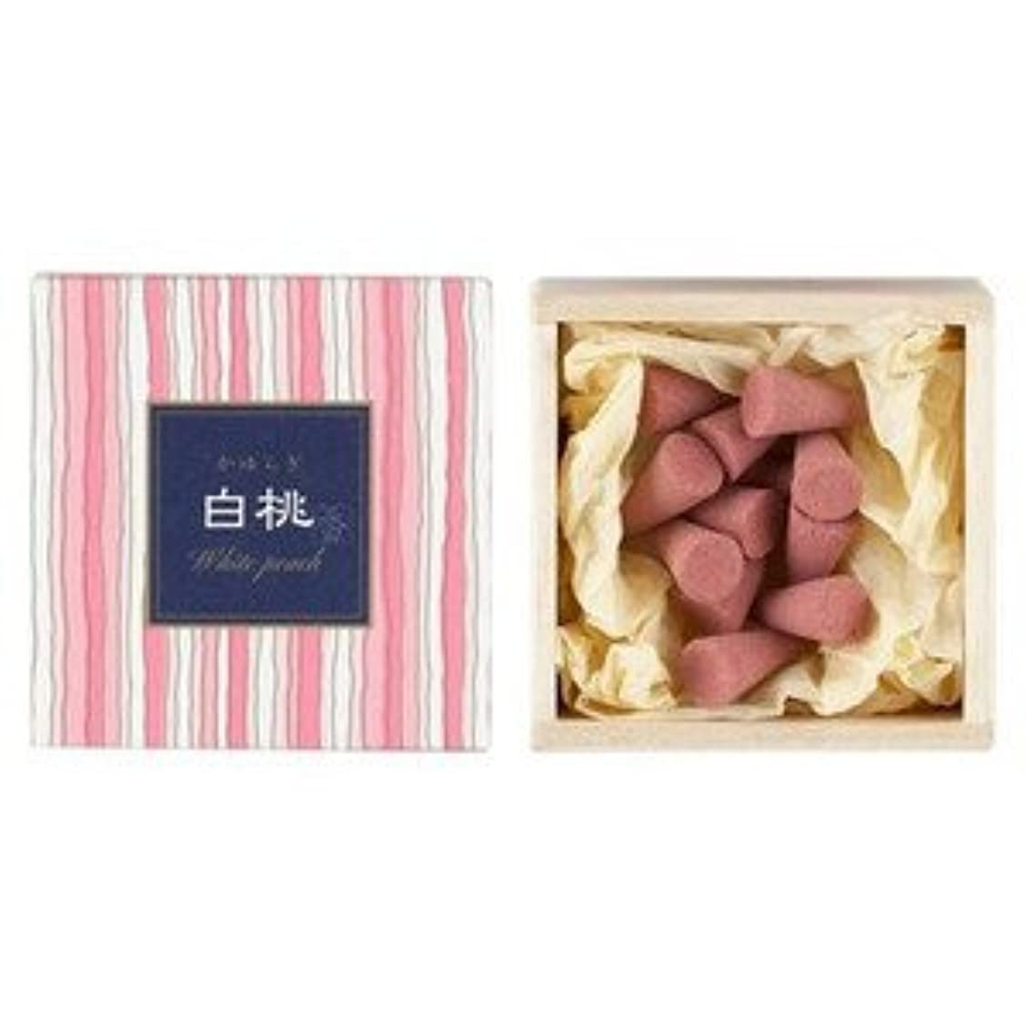 妊娠したカップドライブ日本香堂 かゆらぎコーン 白桃