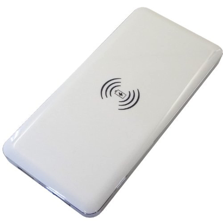 ホワイトナッツ ELUGA X P-02E ホワイト Qi チー 大容量 モバイルバッテリー 10000mAh ワイヤレス充電 ポータブル充電器 wn-0831596-wy
