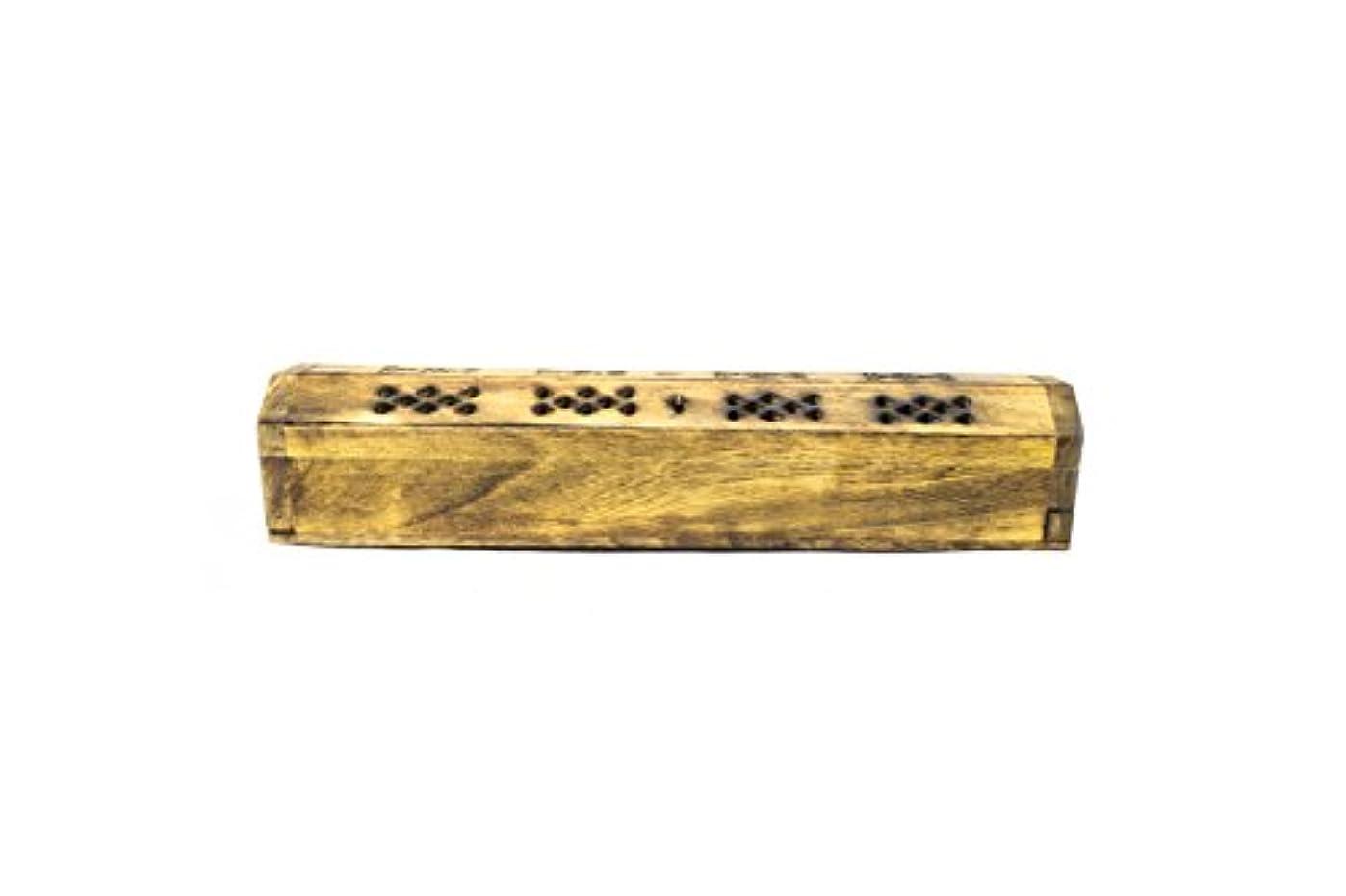 ミルク脊椎残り物SBFクラフト木製お香スティックホルダー、Incense Ashキャッチャーフリー20バニラ香