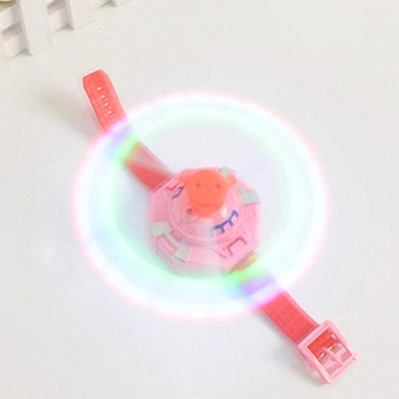 申込みアクロバット控えめなEsolom 子供用電動おもちゃ 3光音楽腕時計 風車 LEDカラフルフラッシュライトウォッチ 子供用電動フラッシュグッズ 照光式時計 おもちゃギフト