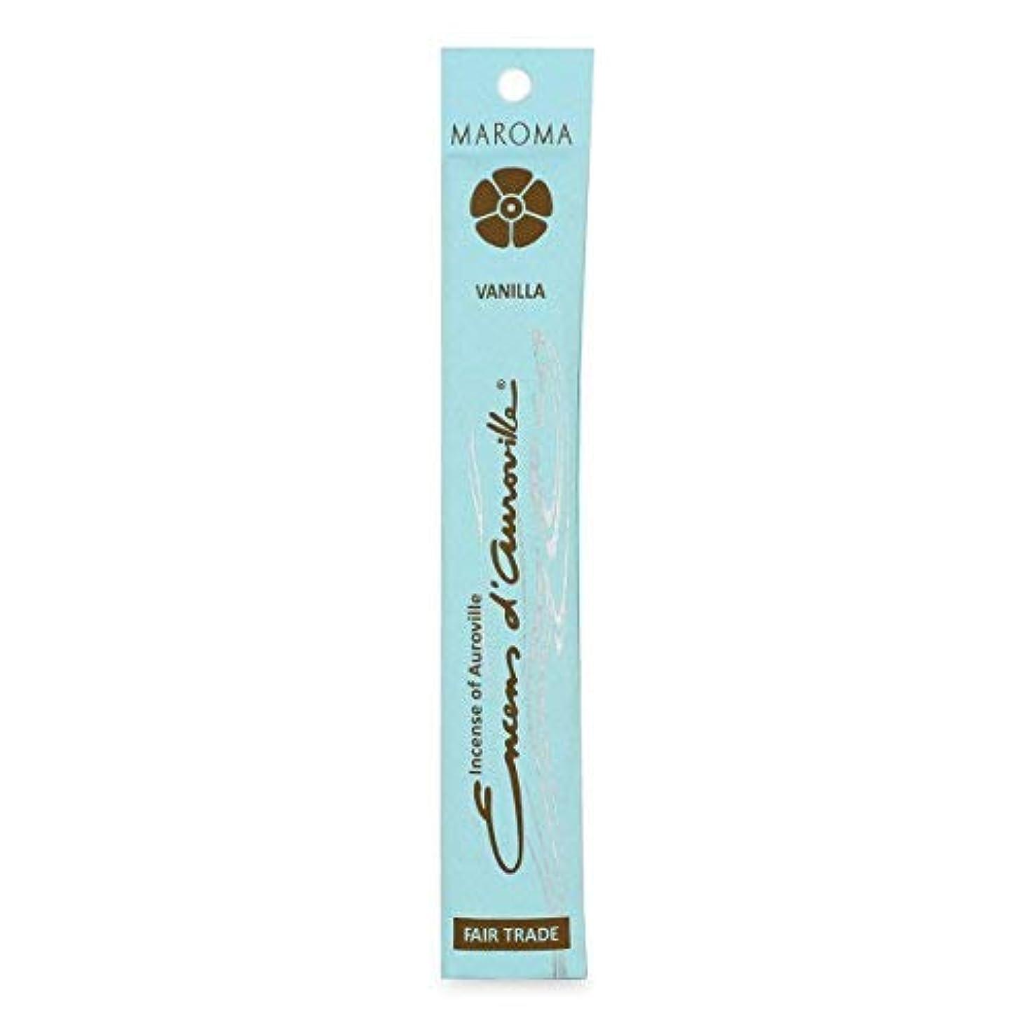 変装緊急氏Maroma Vanilla Incense 10 sticks [並行輸入品]