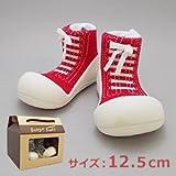 ベビーシューズ Baby feet ベビーフィート ラバー底ソックス SNEAKERS ( 12.5cm , スニーカー Red レッド )