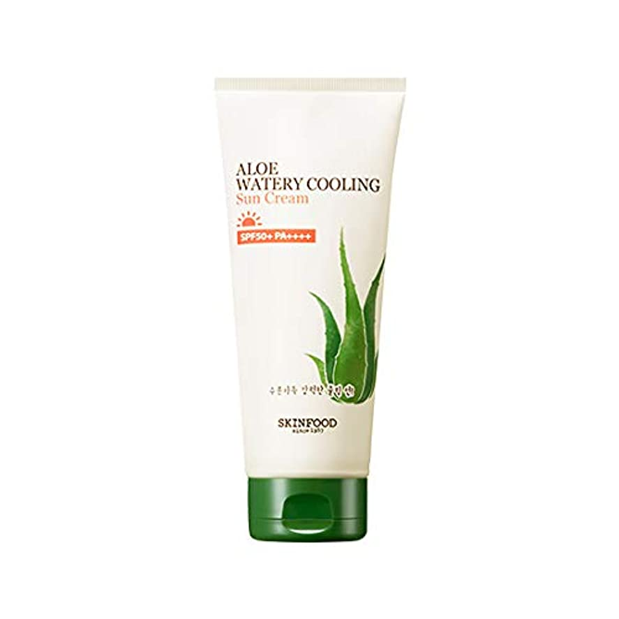 夜間感嘆符楽観的Skinfood アロエ水冷サンクリーム/Aloe Water Cooling Sun Cream 200g [並行輸入品]
