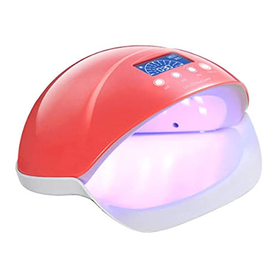 比較アイデア描写La Curie LED&UV ネイルライト 50W&25W 全ジェル対応 ジェルネイル レジン用 赤色LED 美容モード 自動感知センサー 6カ月保証&日本語説明書&プロネイリスト監修ネイルレシピ付き レッド LaCurie005