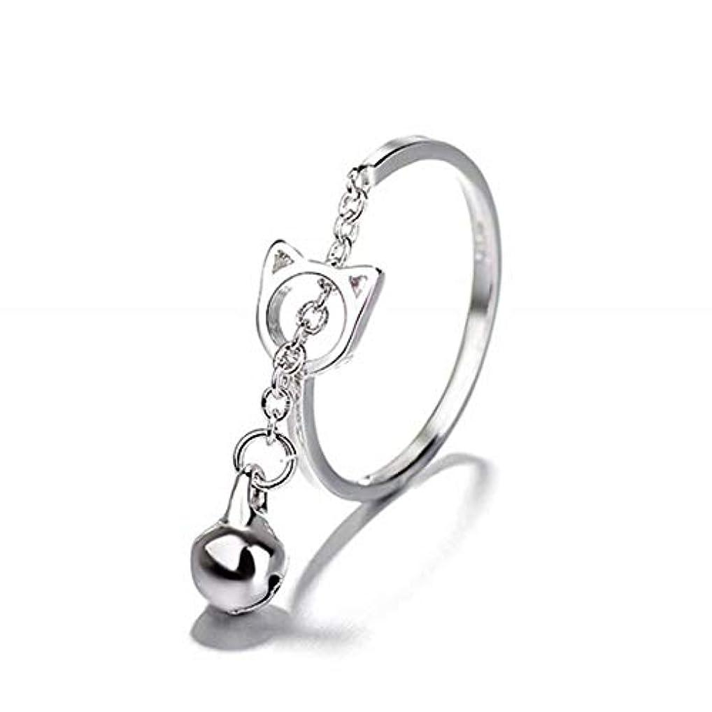 七里の香 キャットベル リング オープンリング 指輪 フリーサイズ リング レディース 結婚 リング アクセサリー 記念日誕生日 バレンタイン プレゼント