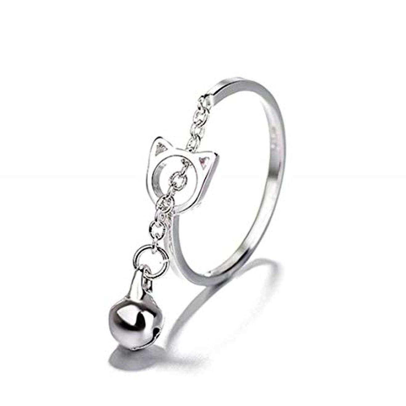 荷物数値責め七里の香 キャットベル リング オープンリング 指輪 フリーサイズ リング レディース 結婚 リング アクセサリー 記念日誕生日 バレンタイン プレゼント