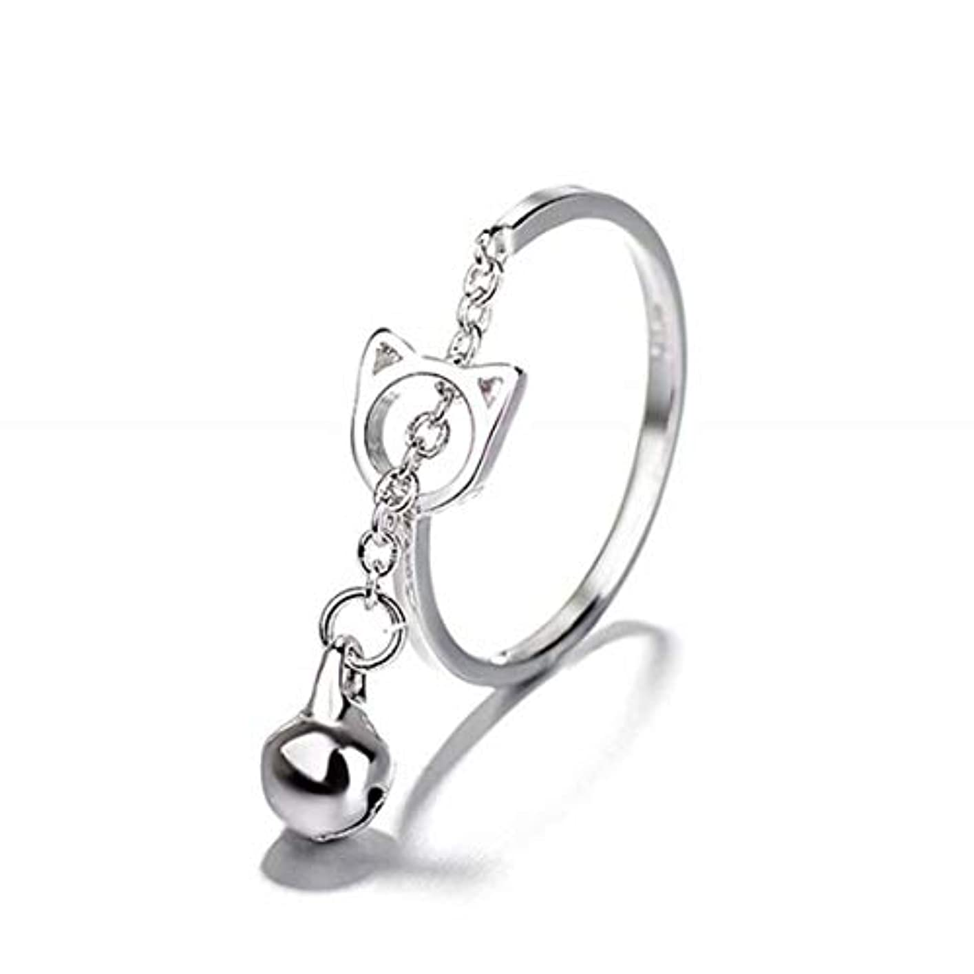グッゲンハイム美術館料理等価七里の香 キャットベル リング オープンリング 指輪 フリーサイズ リング レディース 結婚 リング アクセサリー 記念日誕生日 バレンタイン プレゼント