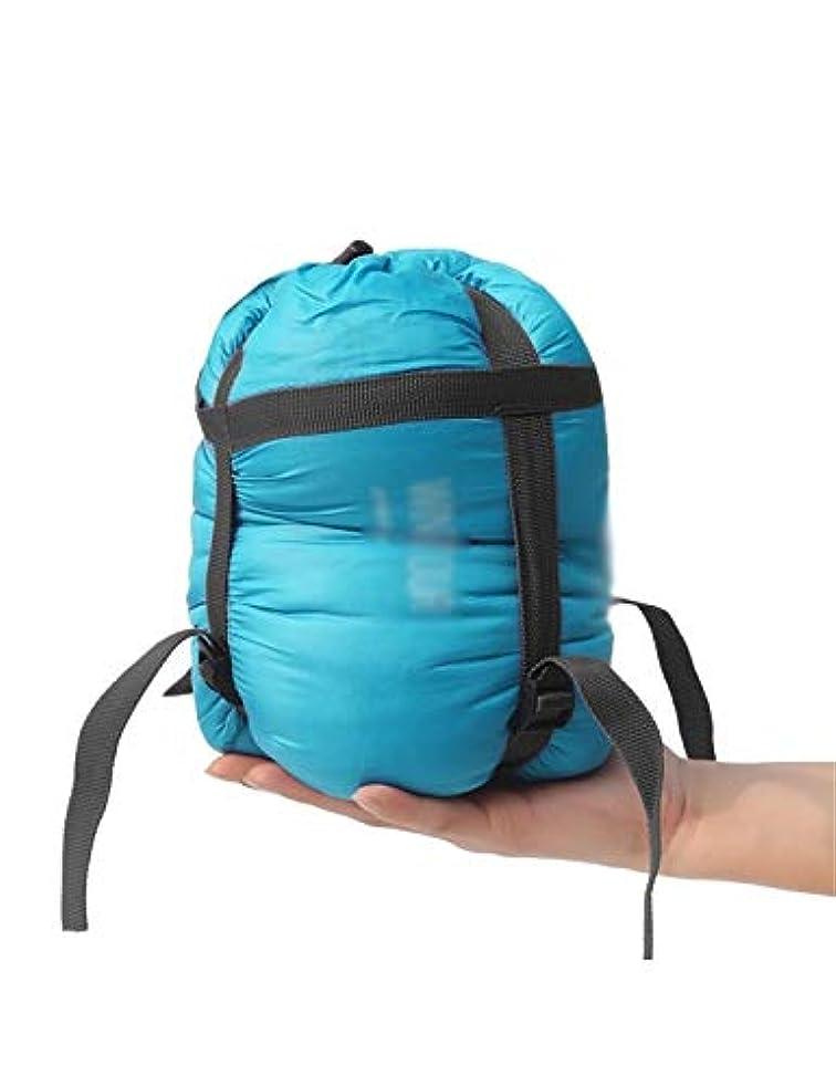 エネルギー貼り直す海藻寝袋、封筒寝袋超軽量ポータブル防水防湿旅行大人の屋外屋内キャンプ折りたたみ寝袋 (Color : Blue)