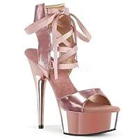 [ステート ストア] レディース シューズ ハイヒール Pleaser del600-14-rogldpu-m Rose Gold Metallic Pu/Rose Gold Chrome サイズ:5 おトロ寄席商品