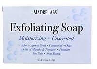 マドレラブ シアバター入り石鹸 Madre Labs Exfoliating Soap Bar with Marula & Tamanu Oils plus Shea Butter [並行輸入品]