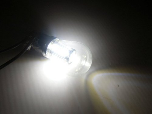 12V/24V兼用!無極性! 電球型LED BA15s/S25/G18 白/ホワイト/トラック バス デコトラ LED電球 マーカーランプ用