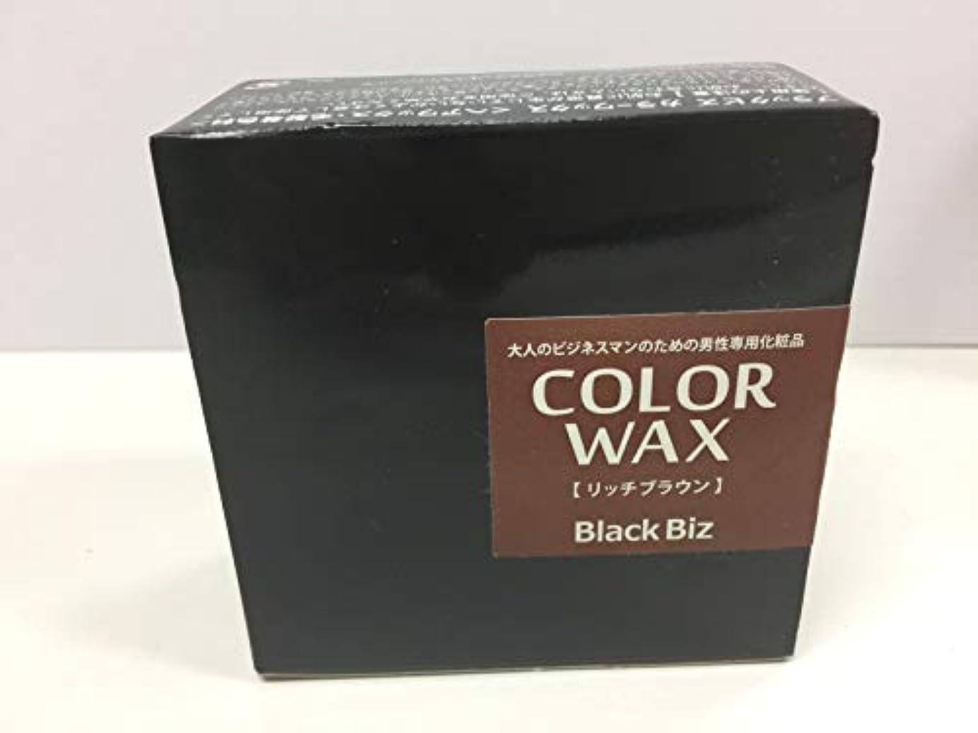 湿地政策アブストラクト大人のビジネスマンのための男性専用化粧品 BlackBiz COLOR WAX ブラックビズ カラーワックス 【リッチブラウン】