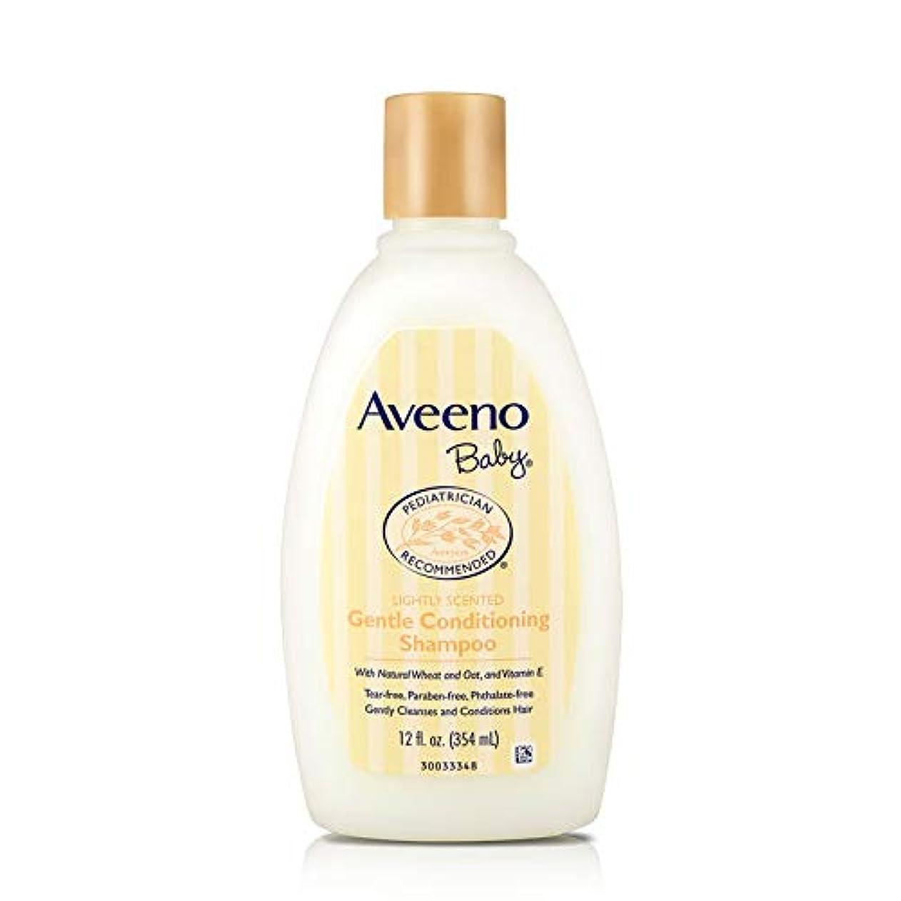 品種細胞癒すAveeno, Baby, Gentle Conditioning Shampoo, Lightly Scented, 12 fl oz (354 ml)