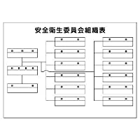 【ユニット】安全衛生委員会組織表(A2サイズ) [品番:317-63]