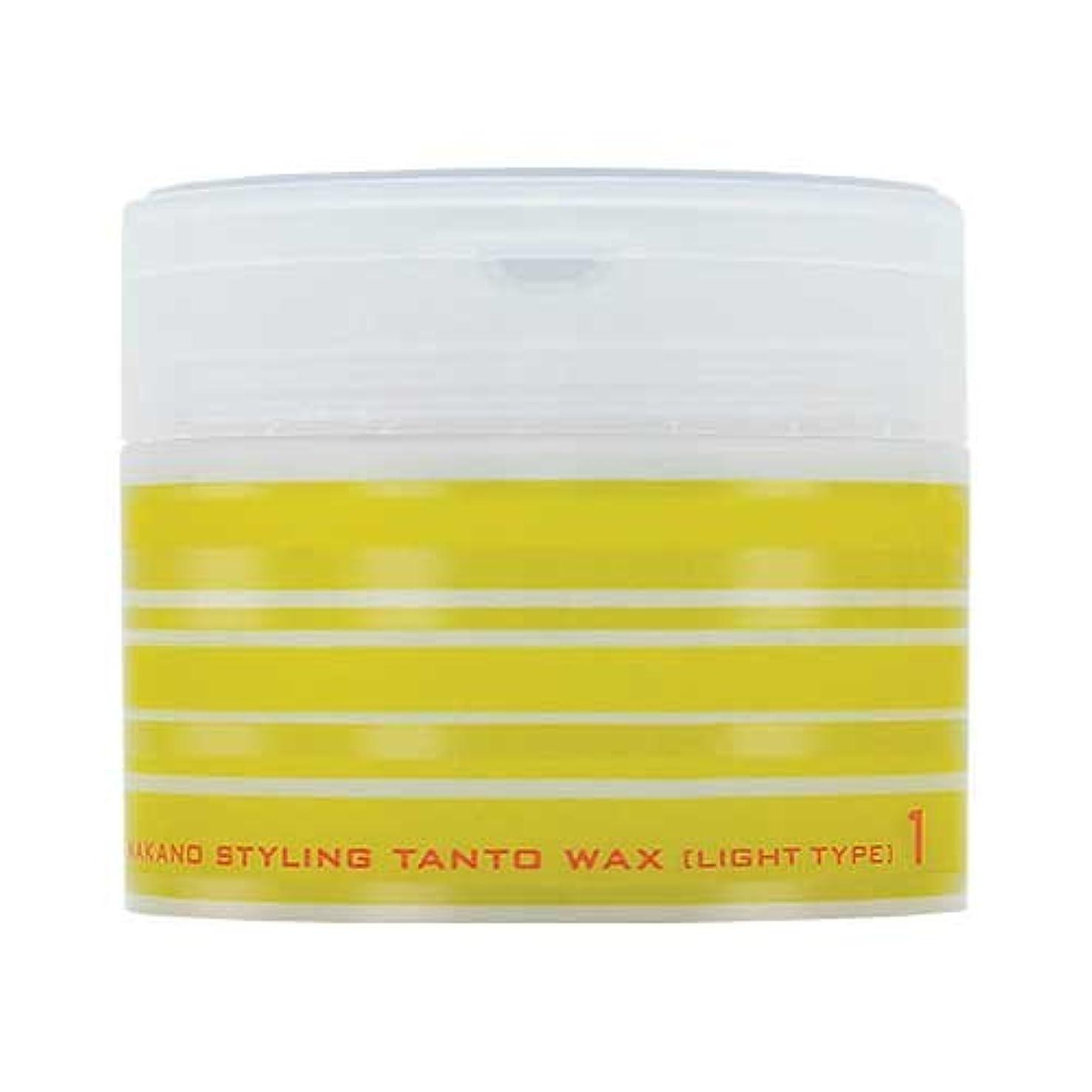 鼻カートリッジ水分ナカノ スタイリング タントN ワックス 1 ライトタイプ 90g 中野製薬 NAKANO