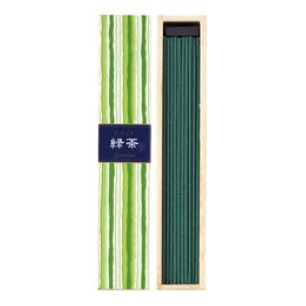 感度批判的におしゃれじゃない日本香堂 かゆらぎ 緑茶 スティック40本入 (1箱)