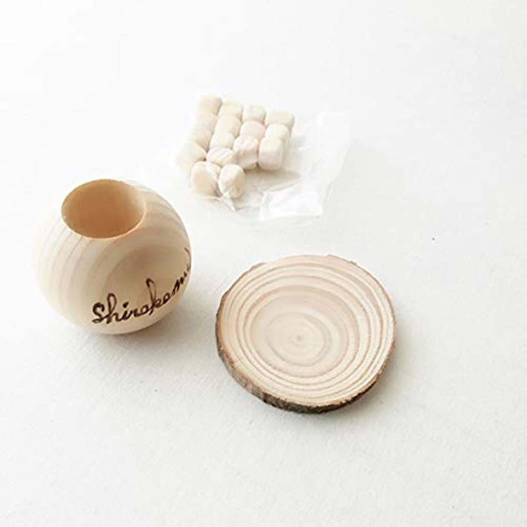 緩やかな記憶彼女のshirokemu 国産 天然 ひのき 木目調 アロマポット 木製 アロマデュフューザー 35mm ( アロマオイル エッセンシャルオイル用 ひのきキューブ )