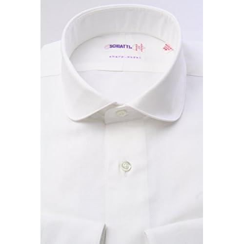 (スキャッティ) SCHIATTI 白 ロイヤルオックス ラウンドカラー(細身)【特別価格】ドレスシャツrd2529f-S(38-82)