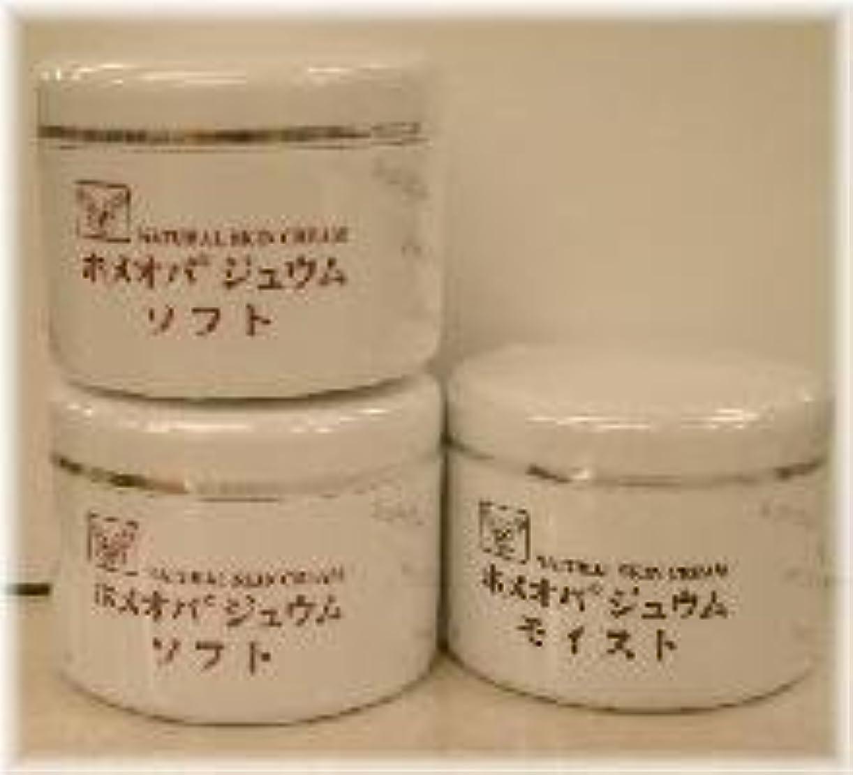 スタック処理軌道ホメオパジュウム スキンケア商品3点 ¥10500クリームソフト2個+クリームモイスト