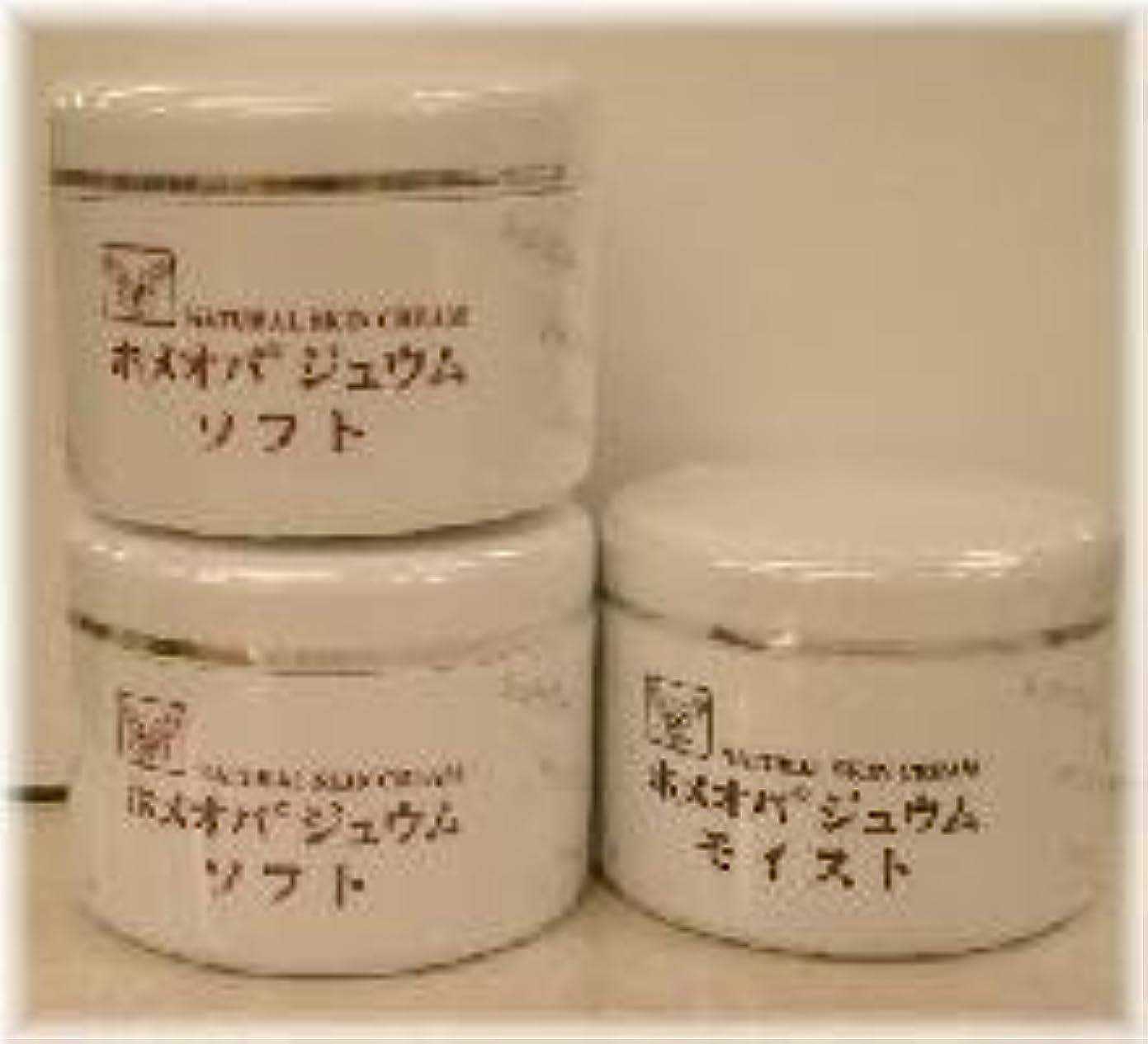無人ほとんどない手荷物ホメオパジュウム スキンケア商品3点 ¥10500クリームソフト2個+クリームモイスト
