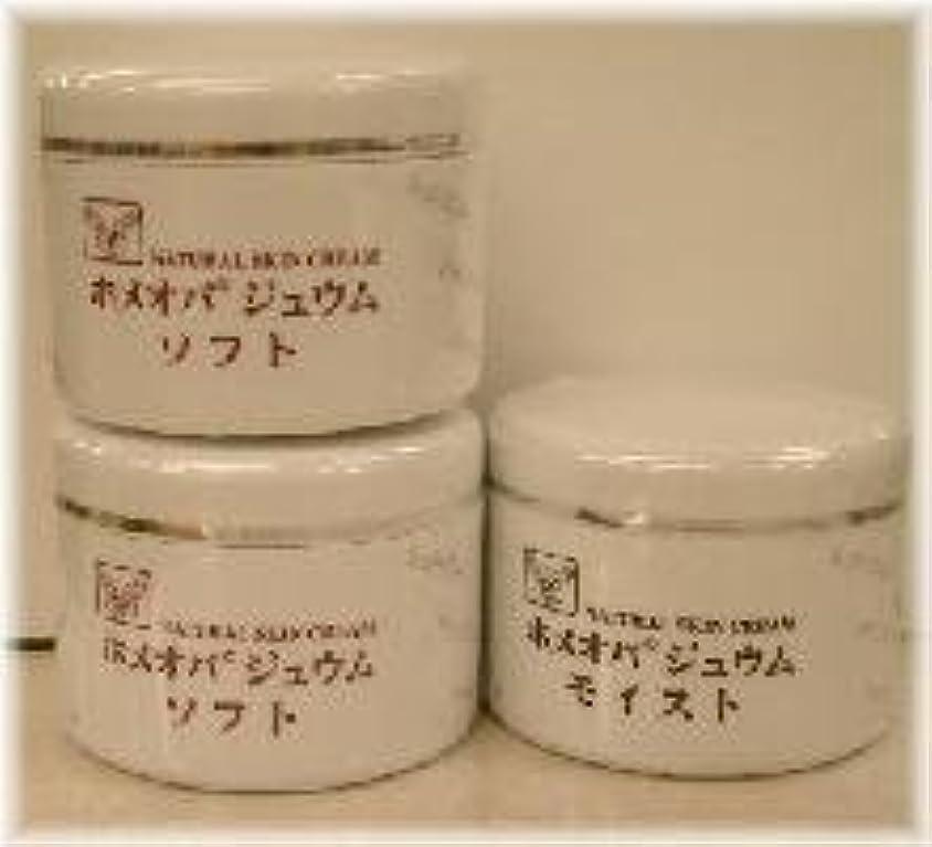 ペリスコープ去る致命的なホメオパジュウム スキンケア商品3点 ¥10500クリームソフト2個+クリームモイスト