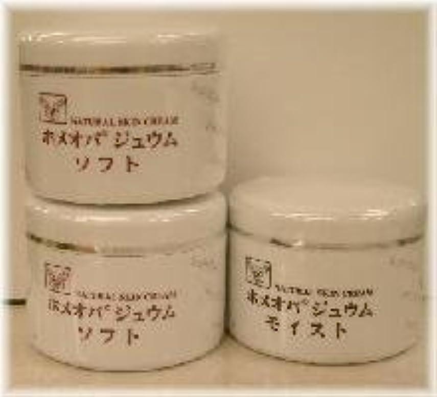 変色する余暇動作ホメオパジュウム スキンケア商品3点 ¥10500クリームソフト2個+クリームモイスト