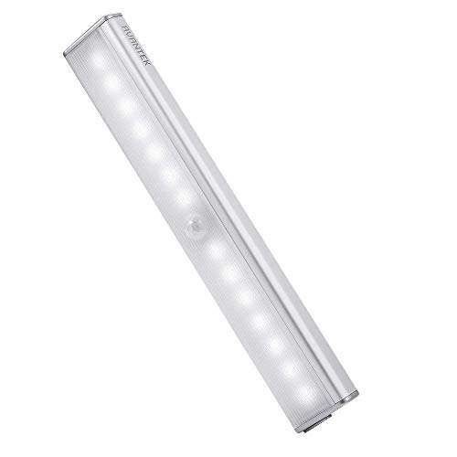 AVANTEK LEDセンサーライト 改良版 人感センサーライト 明るさ4段階調整可能 USB充電式 省エネ 超寿命 マグネット付き 階段 クロゼット 玄関に最適 昼光色 LE-003