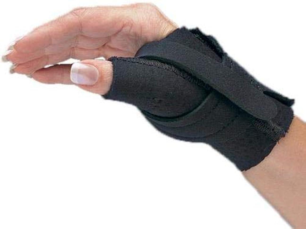 抗議占めるボーダー快適なクールな親指制限スプリントは、親指の関節を直接サポートすると同時に、指全体の機能を許可します。右手