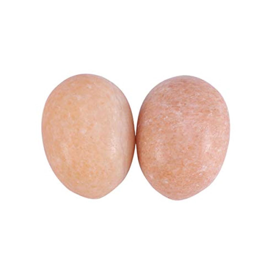 コンチネンタル明日対応するHealifty 6PCS玉ヨニ卵マッサージ癒しの石のケゲル運動骨盤底筋運動(日没赤)