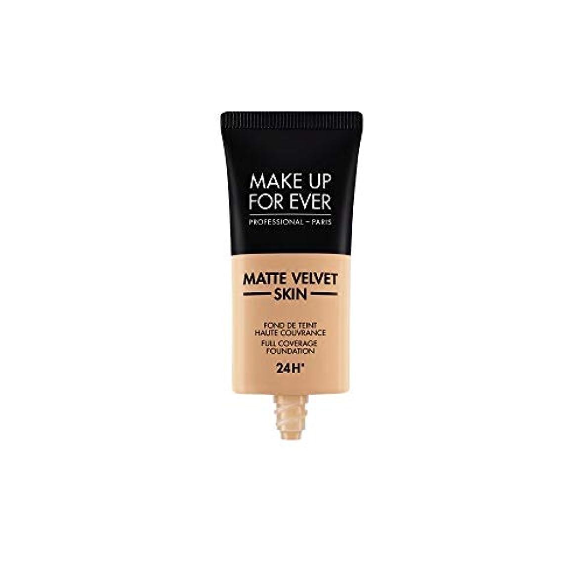 誠実雄弁魚メイクアップフォーエバー Matte Velvet Skin Full Coverage Foundation - # Y325 (Flesh) 30ml/1oz並行輸入品