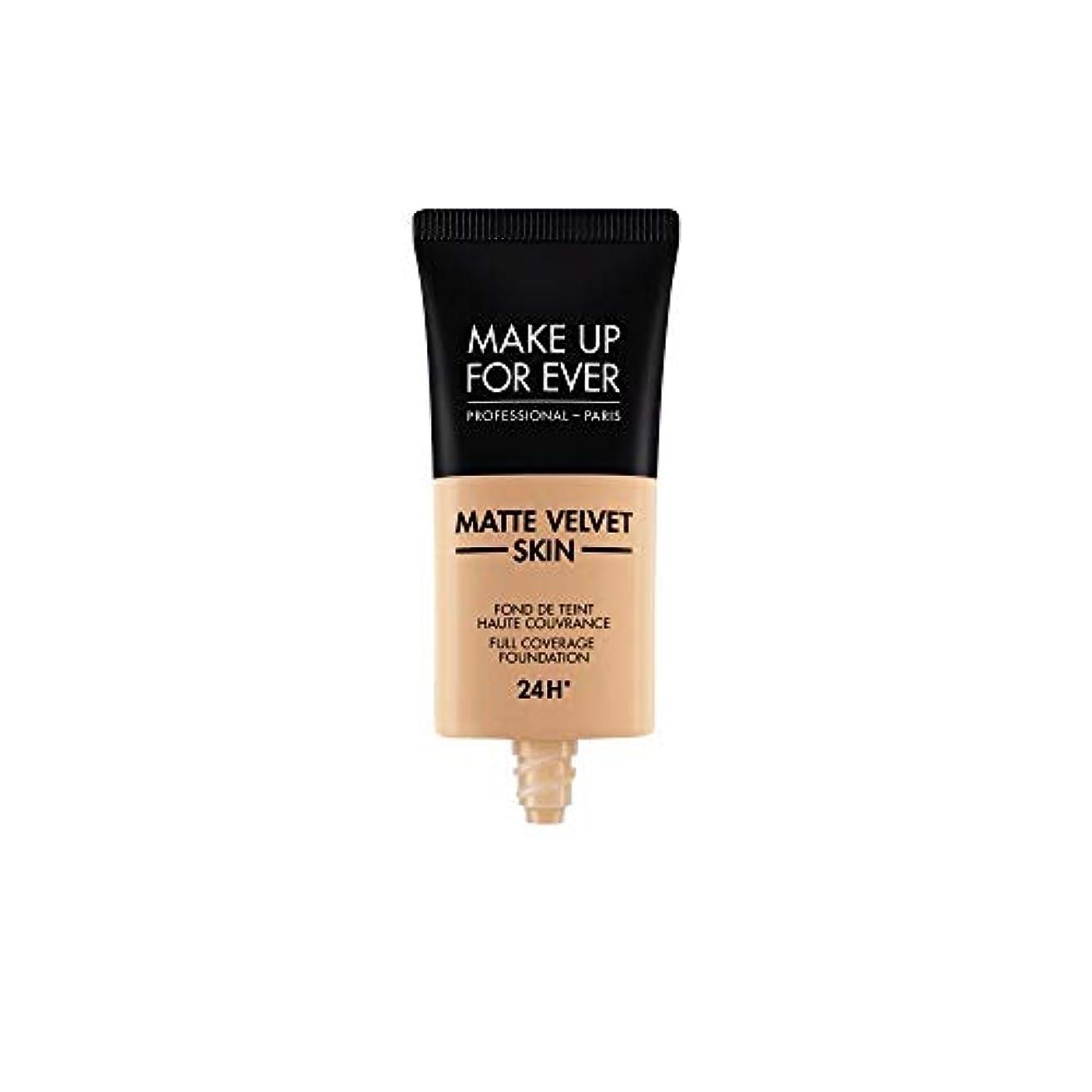 ナビゲーションホーン底メイクアップフォーエバー Matte Velvet Skin Full Coverage Foundation - # Y325 (Flesh) 30ml/1oz並行輸入品