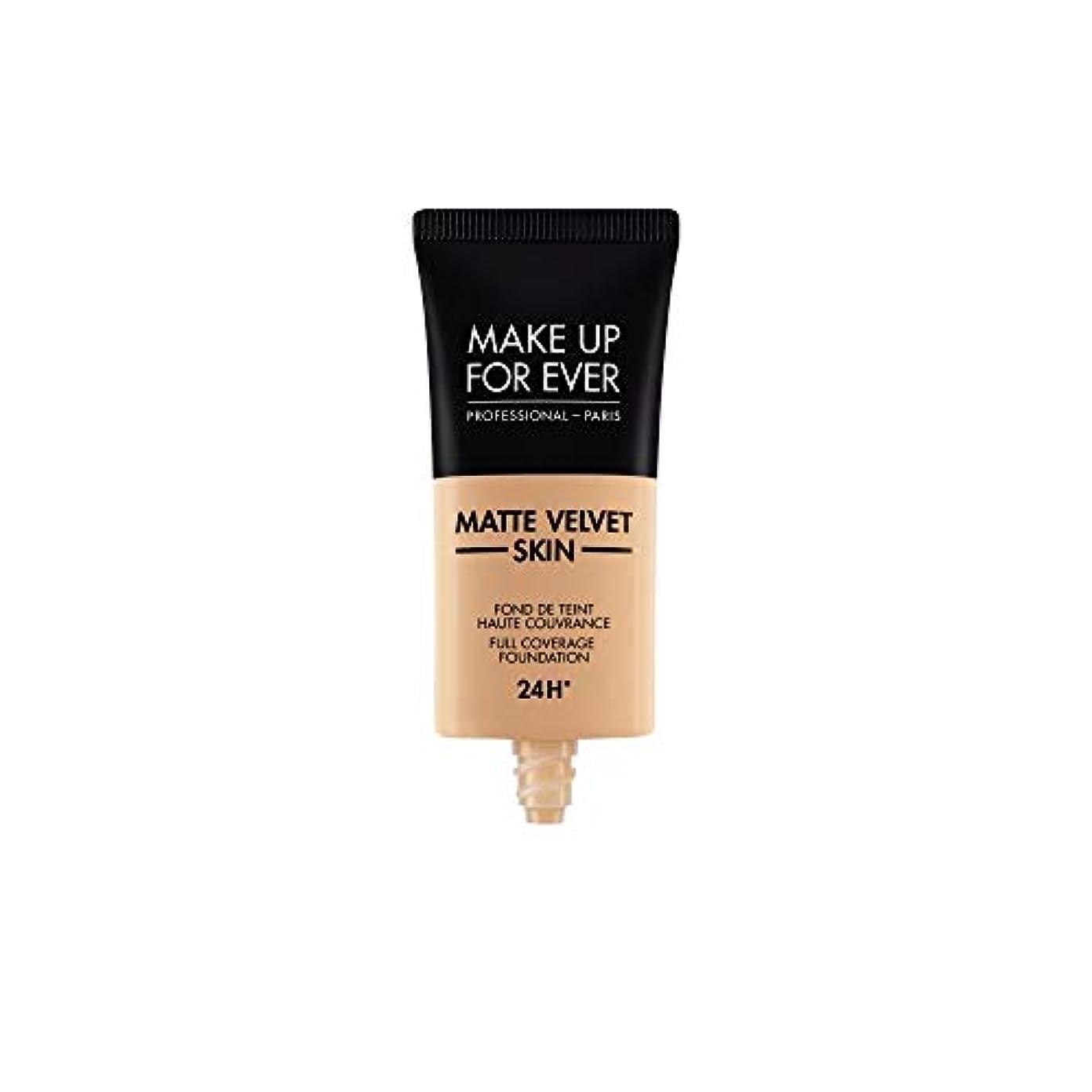 愛されし者変更前件メイクアップフォーエバー Matte Velvet Skin Full Coverage Foundation - # Y325 (Flesh) 30ml/1oz並行輸入品