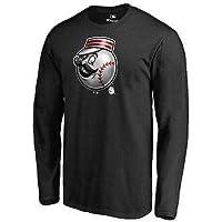 MLB Fanatics Branded Cincinnati Reds Black Midnight Mascot Long Sleeve T-Shirt Tシャツ(メジャーリーグファングッズ)【並行輸入品】