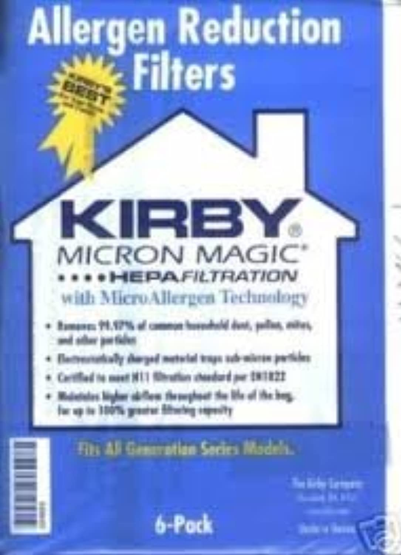 6 3 M HEPA Kirby真空バッグMicron Magic 204803