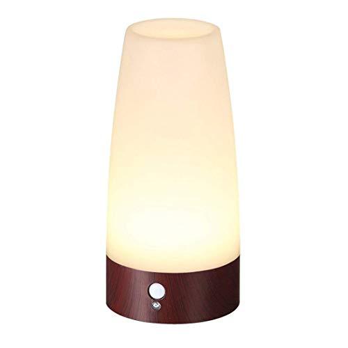 Lifeholder LEDライト 人感&明暗センサーライト ナイトライト 足元ライト 木目調 室内照明 玄関 階段 廊下 電池式 電球色(円形)