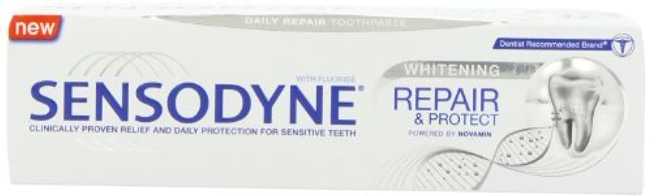 イデオロギーかけがえのない一掃するSensodyne Repair and Protect Whitening Toothpaste, 75ml by Sensodyne