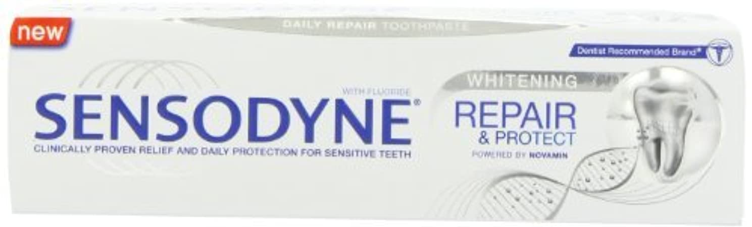 近代化外交官ヘビSensodyne Repair and Protect Whitening Toothpaste, 75ml by Sensodyne [並行輸入品]