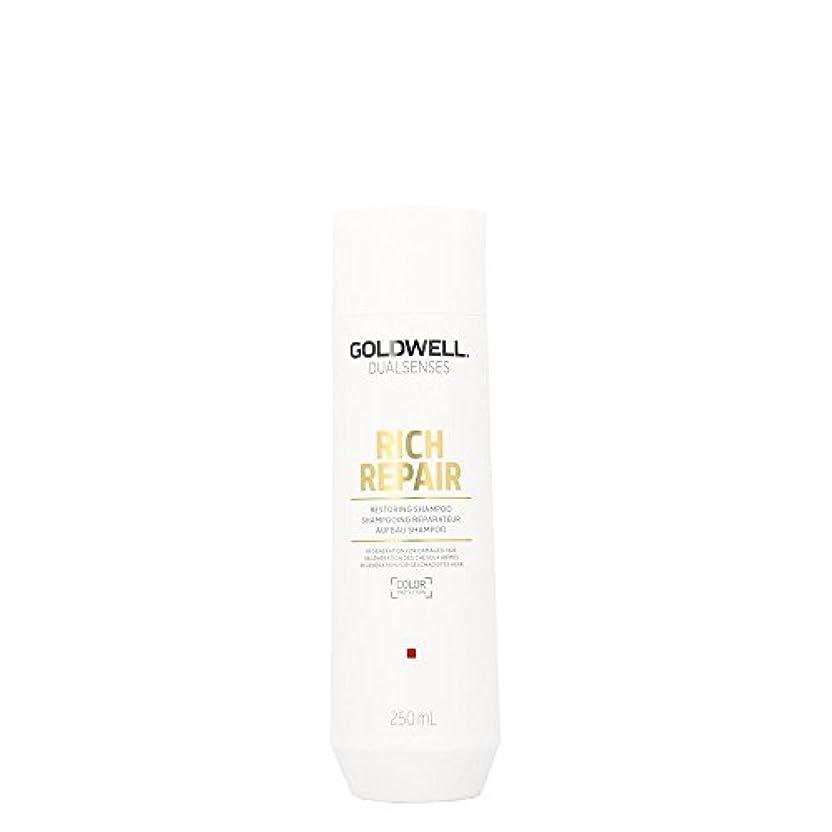 かかわらずゴミ箱を空にする小切手ゴールドウェル Dual Senses Rich Repair Restoring Shampoo (Regeneration For Damaged Hair) 250ml