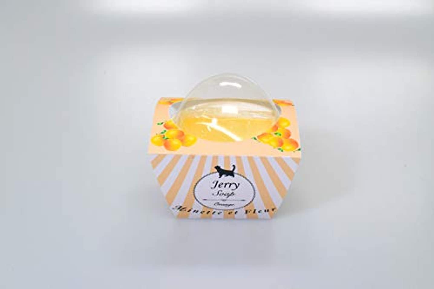 投票視力土砂降り【ミネット エ フルール】 オリジナルジェリーソープ オレンジ