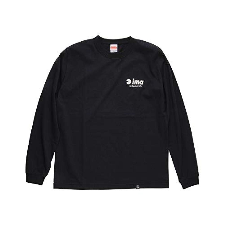 発見ガラスヒープアムズデザイン(ima) ima ロングスリーブTシャツ ブラック XL.