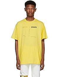 (ラフ シモンズ) Raf Simons メンズ トップス Tシャツ Yellow Regular Fit 'Drugs' T-Shirt [並行輸入品]