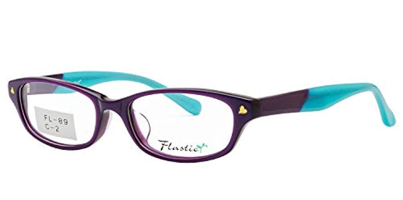 鯖江ワークス(SABAE WORKS) 老眼鏡 おしゃれ パープル 女性用 FL89C2 +1.50