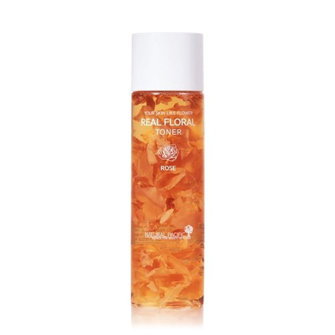 中傷子豚ライセンスNATURAL PACIFIC Real Rose Floral Toner 180ml/ナチュラルパシフィック リアル ローズ フローラル トナー 180ml [並行輸入品]