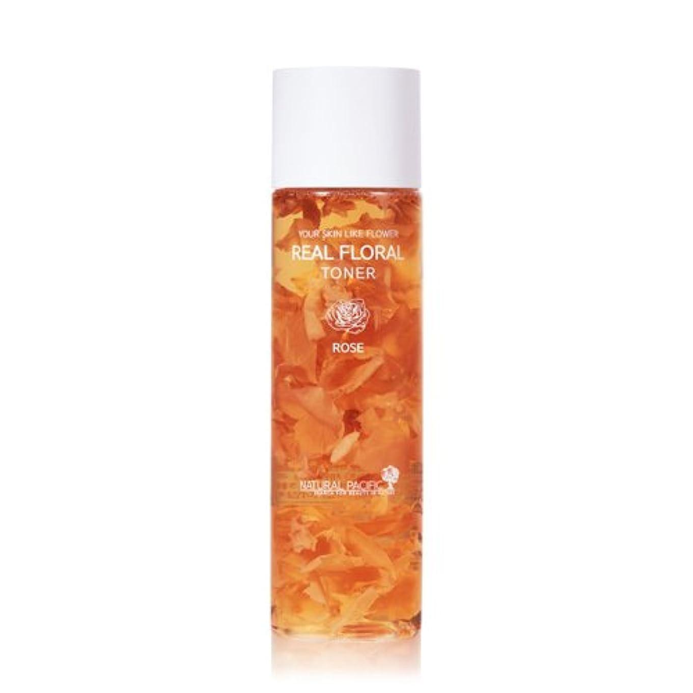 フィードオン個性ジャケットNATURAL PACIFIC Real Rose Floral Toner 180ml/ナチュラルパシフィック リアル ローズ フローラル トナー 180ml [並行輸入品]