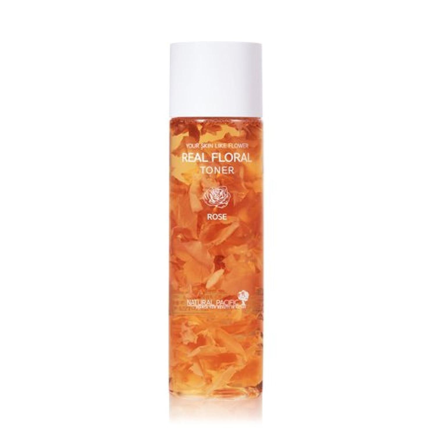 狭いバッテリー司法NATURAL PACIFIC Real Rose Floral Toner 180ml/ナチュラルパシフィック リアル ローズ フローラル トナー 180ml [並行輸入品]