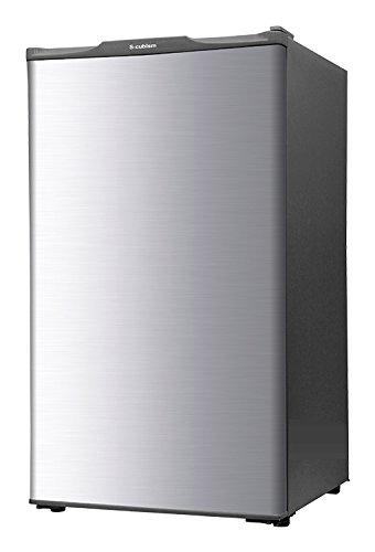 エスキュービズム 1ドア冷凍庫 WFR-1060SL シルバー 60L